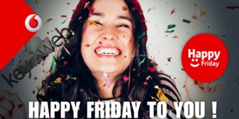 Vodafone Happy Friday venerdì 29 settembre: 8GB in regalo per il weekend