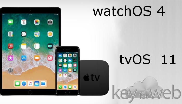 Dopo iOS 11 ecco watchOS 4 e tvOS 11 disponibili al download