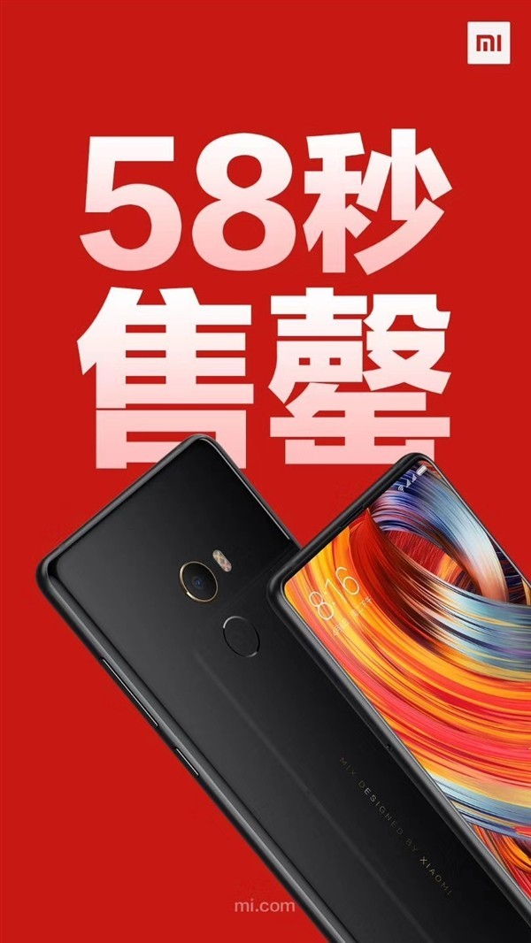 Xiaomi Mi MIX 2 58 secondi