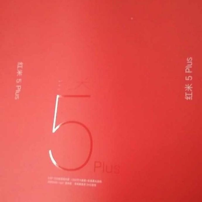 retail box Xiaomi Redmi Note 5 Plus