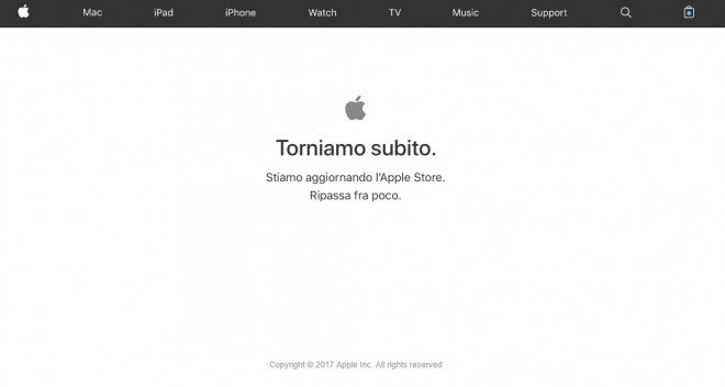 Apple Store non disponibile: ci si prepara ai nuovi iPhone X ed iPhone 8