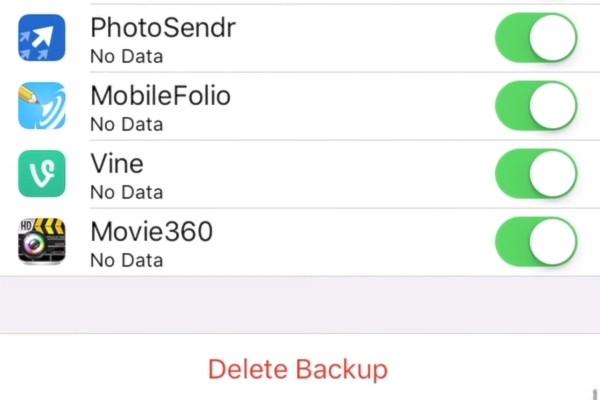 elimina backup