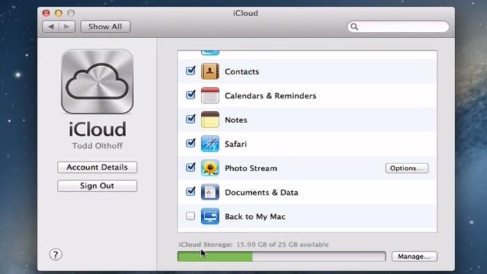 iCloud Mac