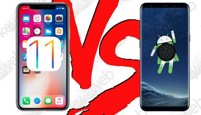 iOS 11 vs Android Oreo 8.0: chi dei due si posiziona come miglior S.O mobile?