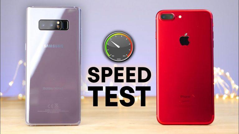 Apple iPhone 7 Plus vs Galaxy Note 8, uno speed test imbarazzante per Samsung