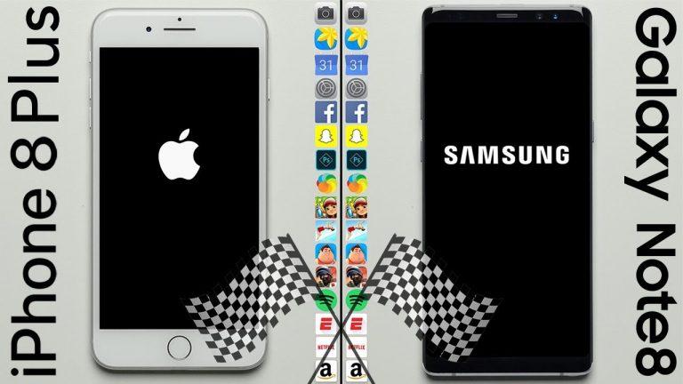 Samsung Galaxy Note 8 batte iPhone 8 Plus in un nuovo speed test