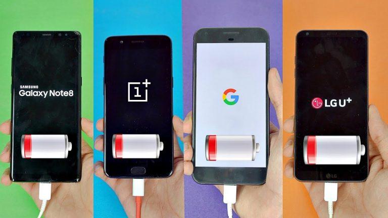 Samsung Galaxy Note 8 vs OnePlus 5 vs Pixel XL vs LG G6: test batteria tra i migliori top gamma del momento