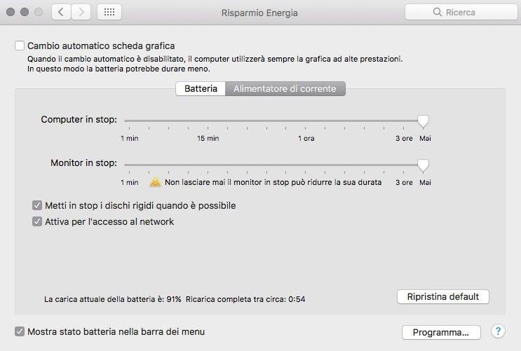 ottimizzazioni 2 MacOS