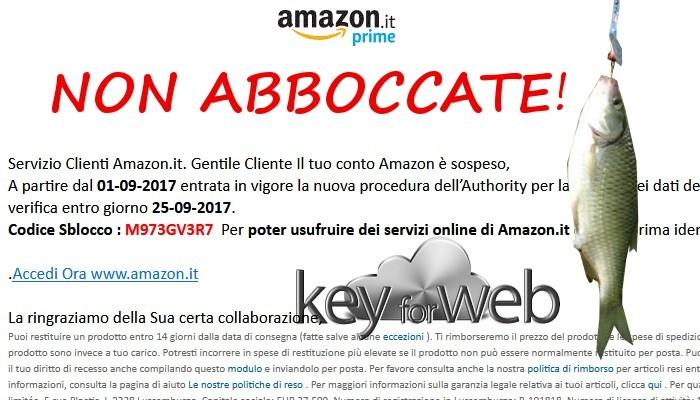 Servizio Clienti Amazon, conto bloccato, necessità di sbloccare i dati, la nuova truffa mirata a rubare i vostri conti