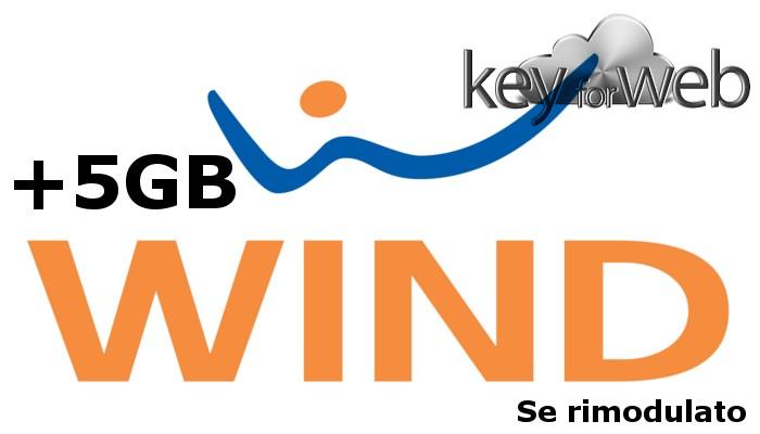 Wind, per non farti passare a TIM e Vodafone ai rimodulati uno stupendo regalo: 5GB in più ogni 28GG per un anno