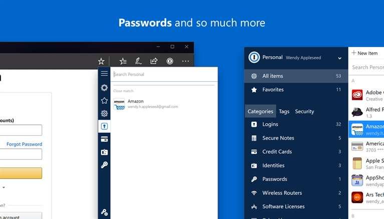 Disponibile sul Microsoft Store 1Password, nuova estensione per Edge