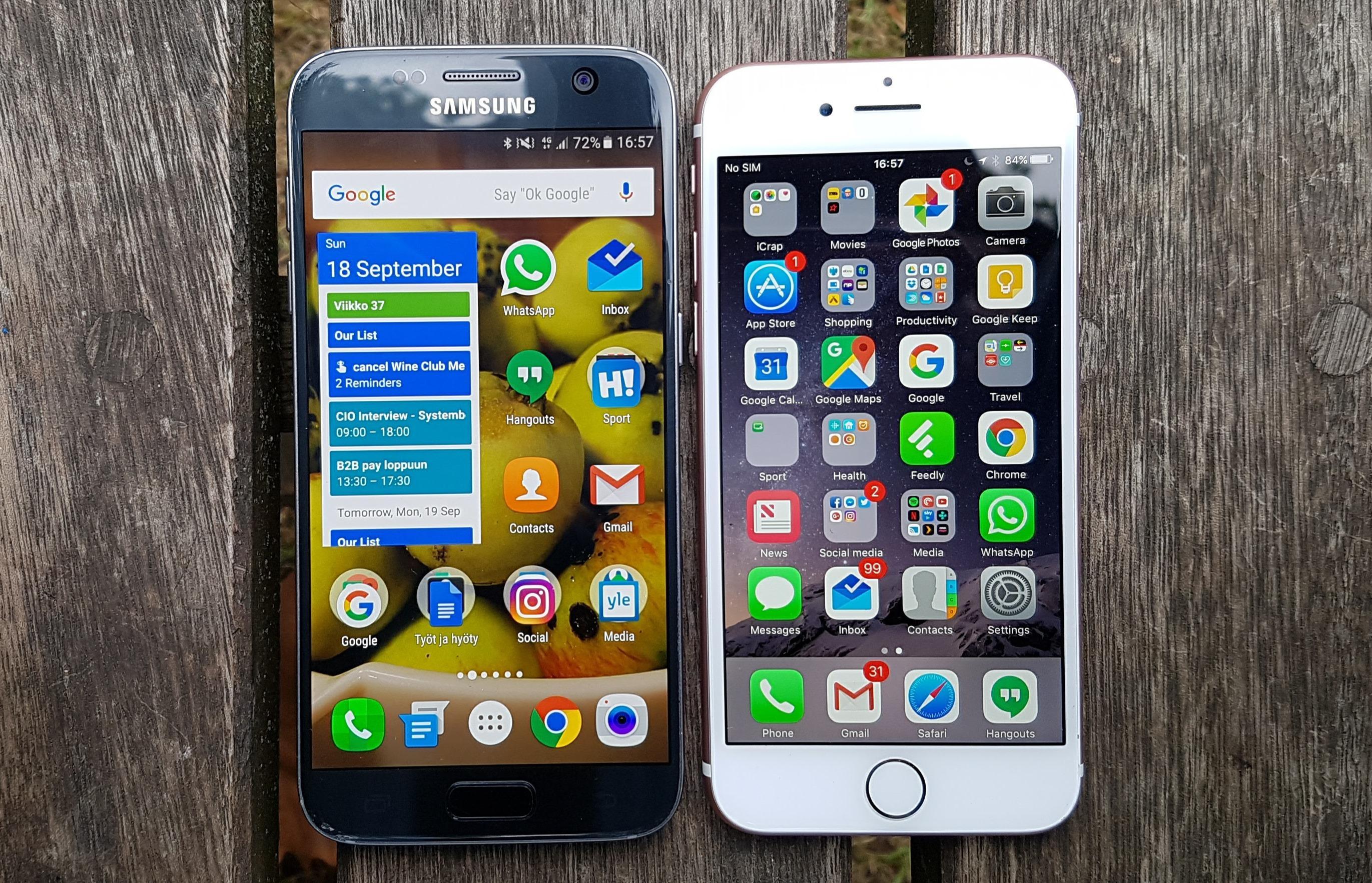 Samsung Galaxy S7 meglio di Apple iPhone 8, lo dice Consumer Reports