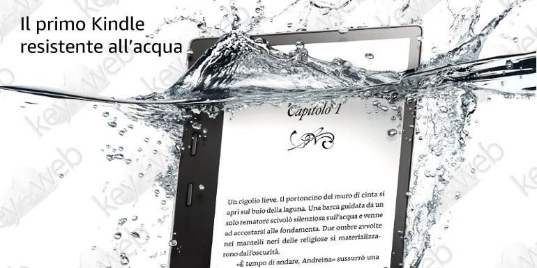 Amazon lancia finalmente il suo primo Kindle resistente all'acqua