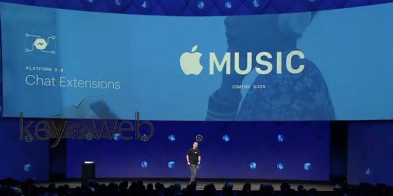 Facebook annuncia l'integrazione di Apple Music per Messenger