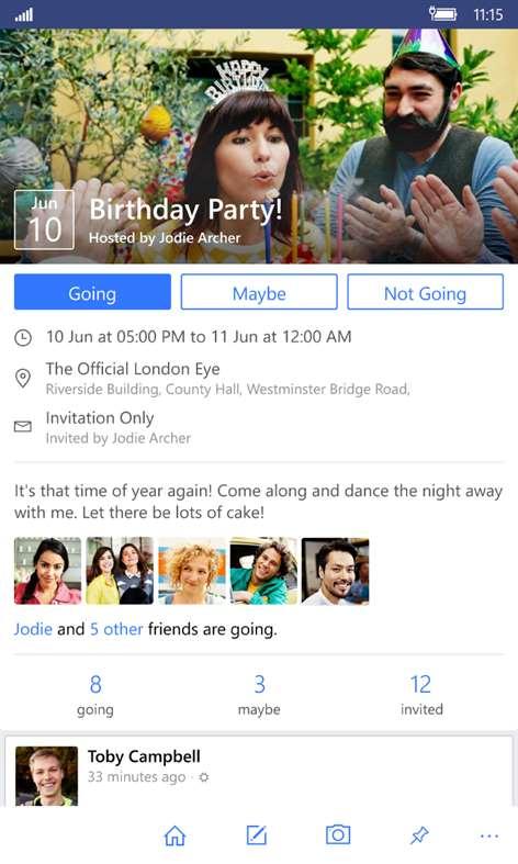 Facebook, nuovo aggiornamento per l'App di Windows 10