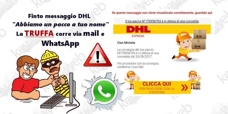 """Finto messaggio DHL: """"Abbiamo un pacco a tuo nome"""", la truffa corre via mail e WhatsApp"""