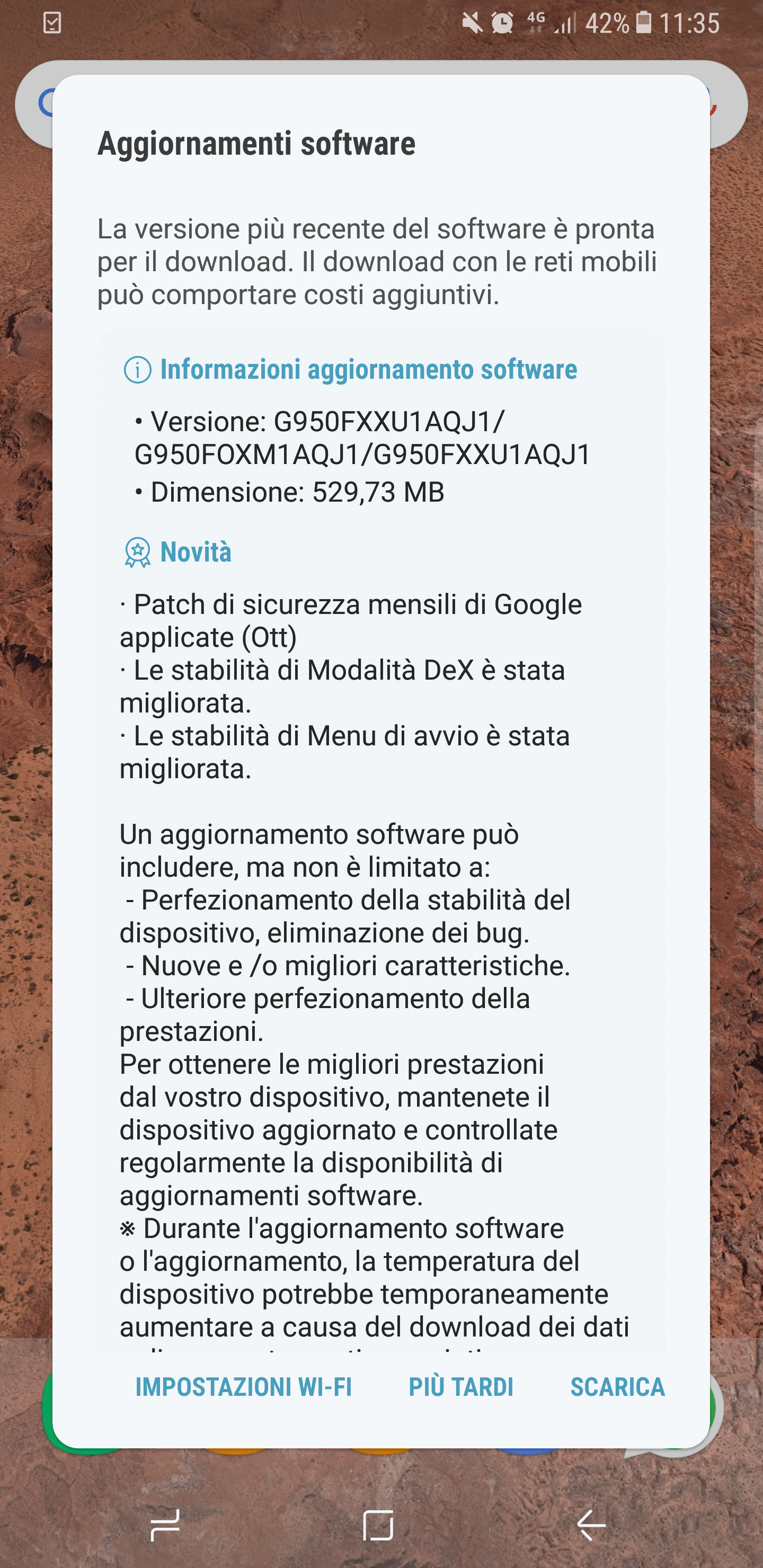 Galaxy S8 - patch ottobre 2017