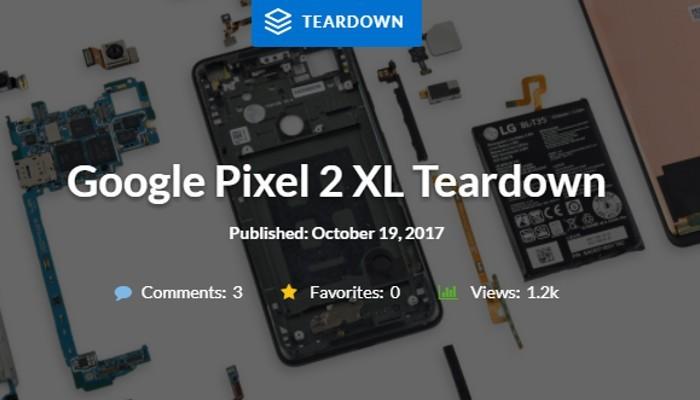 Google Pixel 2 XL becca la sufficienza nel test di riparabilità di iFixit