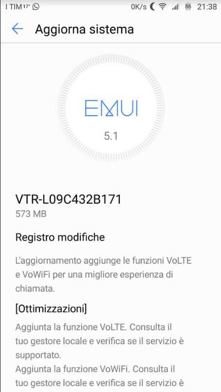 Huawei P10 - aggiornamento patch di settembre