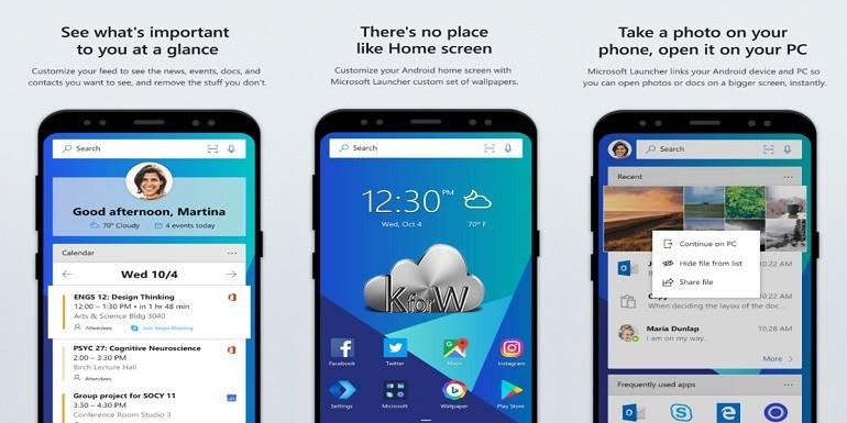 Microsoft Launcher aggiunge le opzioni di trasparenza