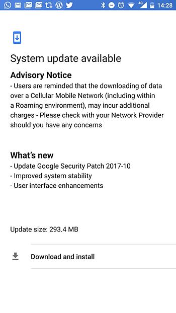 Nokia 8 - patch di sicurezza di ottobre
