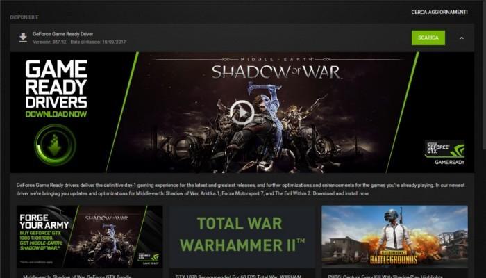Nvidia rilascia i nuovi driver GeForce 387.92 e mette il turbo a Forza 7