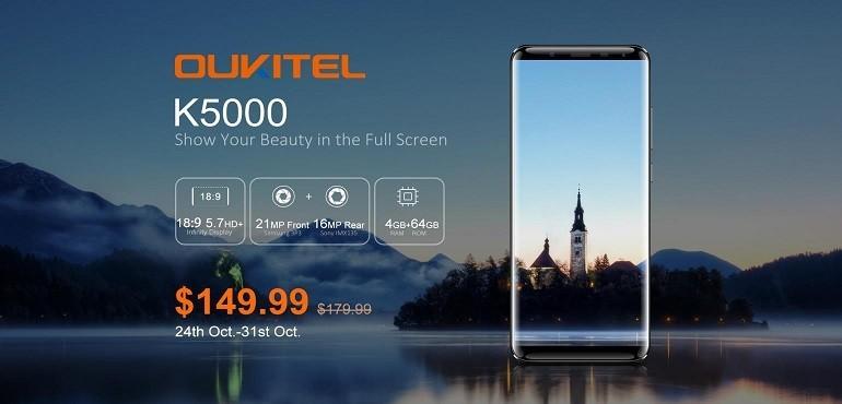 OUKITEL K5000 disponibile dal 24 Ottobre a 149.99 dollari