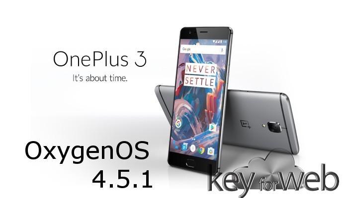Oxygenos 4.5.1 per OnePlus 3T e OnePlus 3 disponibile ufficiale