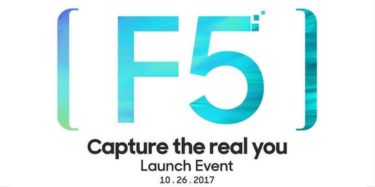 Oppo F5 sarà lanciato il 26 ottobre con display da 6 pollici e rapporto 18:9