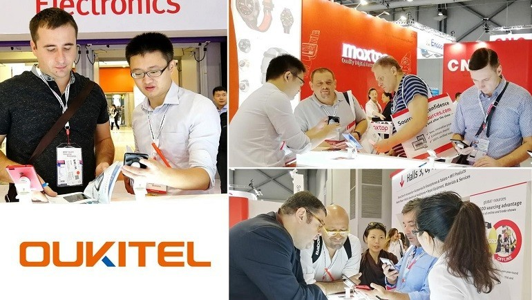 OUKITEL porta 20 Smartphone al Global Sources Electronics Exhibition di Hong Kong