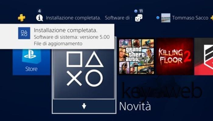 PlayStation 4 si aggiorna al firmware 5.00 con tantissime novità