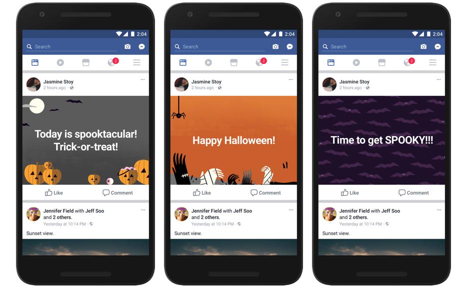 Facebook si prepara ad Halloween con effetti divertenti