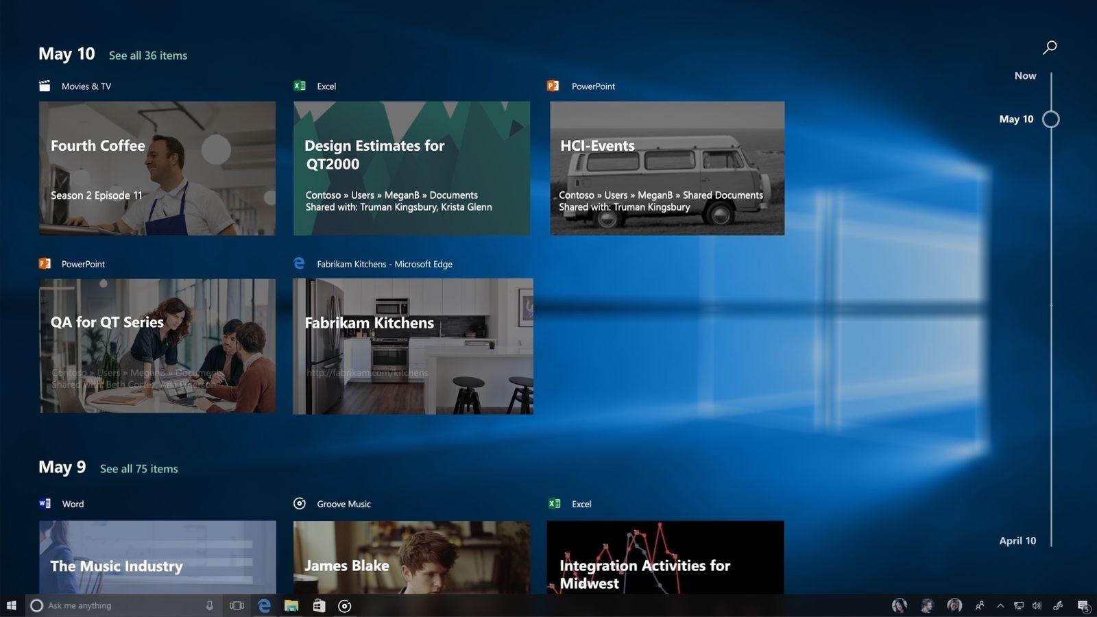 Timeline, la nuova funzione per Windows 10 in arrivo con Redstone 4