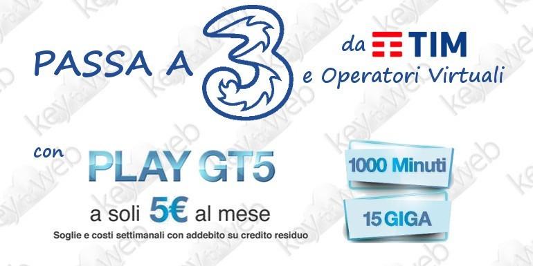 Torna la migliore offerta passa a 3 Italia da TIM e Operatori Virtuali con Play GT5 Special