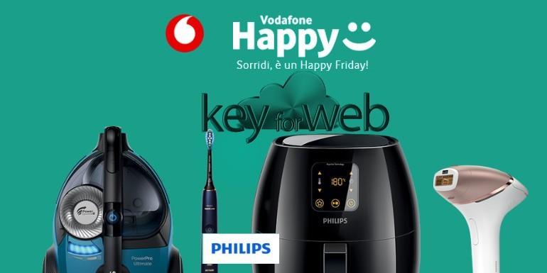 Vodafone Happy Friday 13 ottobre 2017: sconto del 25% sullo shop online di Philips