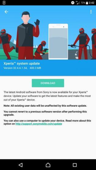 Sony rilascia un nuovo aggiornamento per la serie Xperia Z5 ed altri modelli