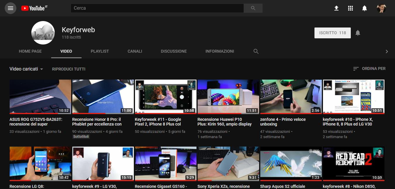 Come attivare il tema scuro di YouTube