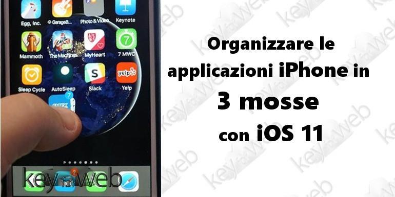 Organizzare le applicazioni iPhone in 3 mosse con iOS 11