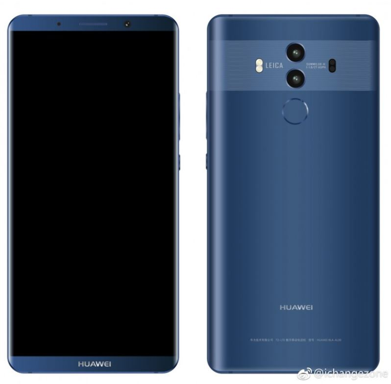 Nuovi render di Huawei Mate 10 confermano il design a pochi giorni dal lancio