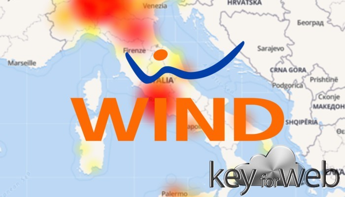 Wind down, in ginocchio l'Italia: problemi di comunicazione oggi 25 ottobre