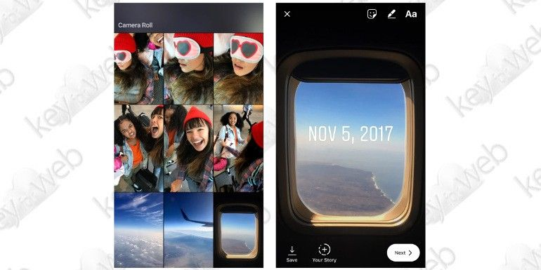 Instagram Storie: possibilità di pubblicare contenuti più vecchi di 24 ore