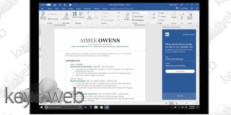 Microsoft integra LinkedIn con Word per la stesura dei curriculum
