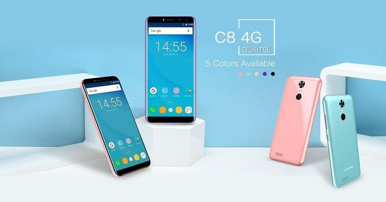 OUKITEL C8 4G il nuovo device cinese con infinity display