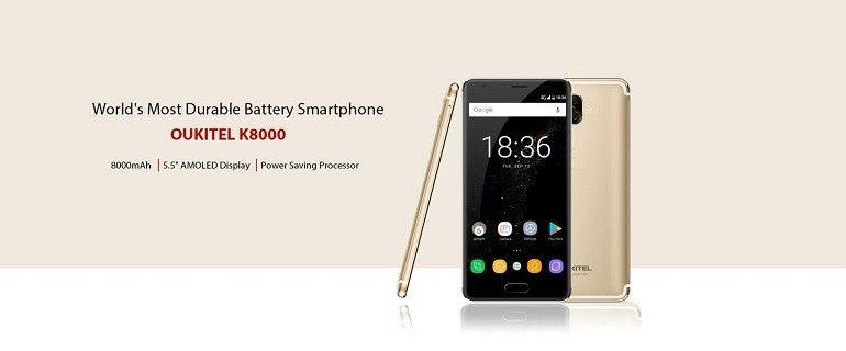OUKITEL K8000 lo smartphone più duraturo al mondo