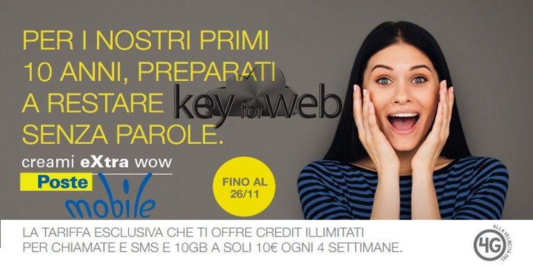 Passa a PosteMobile con Creami Extra WOW a 10€