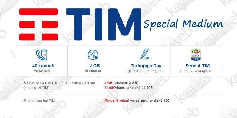 Passa a TIM con l'offerta di novembre 2017: Special Medium