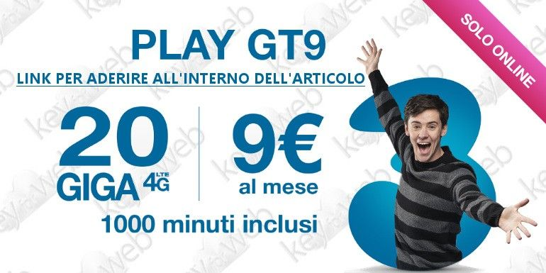 Passa a Tre online con Play GT9 Extra, link per aderire