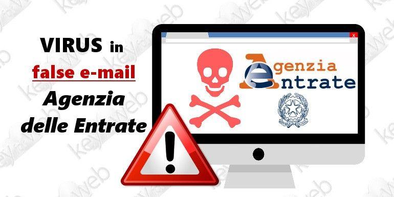 """Polizia Postale: """"Virus in false mail Agenzia delle Entrate"""""""