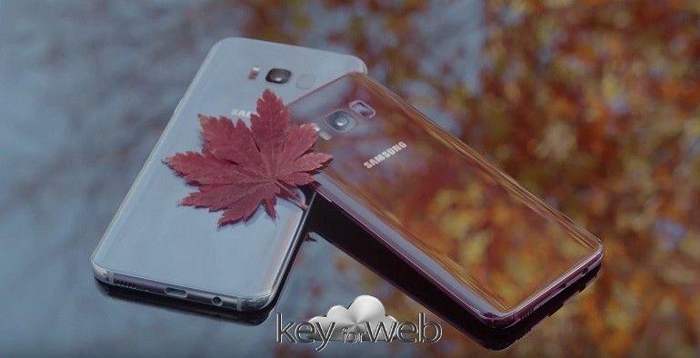 Galaxy S8 si veste di rosso con la splendida colorazione Burgundy Red