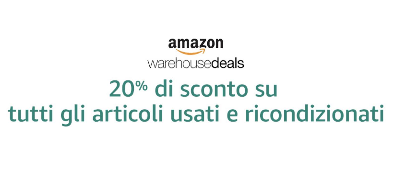 Black Friday: Amazon sconta al 20% tutti i prodotti ricondizionati